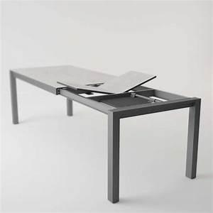Table moderne en céramique extensible Quadra 4 Pieds : tables, chaises et tabourets