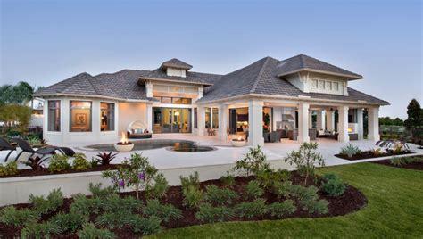 Exterior Landscape One Story Home  Building Plans Online