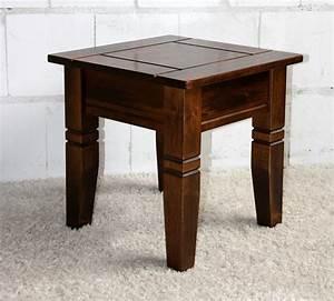 Beistelltisch Holz Massiv : couchtisch quadratisch beistelltisch 45x45cm holz massiv kolonial ~ Udekor.club Haus und Dekorationen