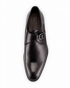 Ermenegildo Zegna Single Monk Strap Shoe In Black For Men