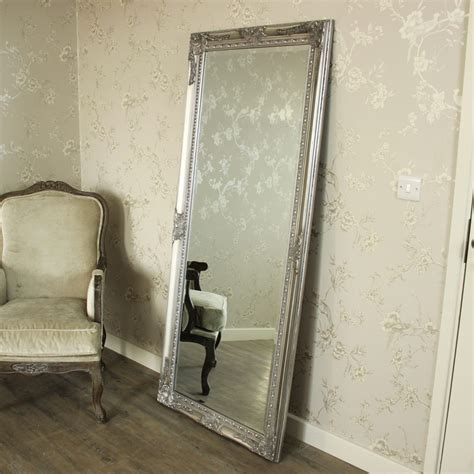 floor mirror 46 x 76 large ornate silver wall floor mirror melody maison 174
