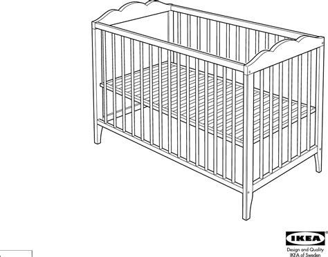 Ikea Bed Gebruiksaanwijzing by Handleiding Ikea Hensvik Babybed Pagina 1 4 Dansk