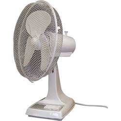 tpi oscillating desk fan 12in dia 1 200 cfm model odf 12 home office portable fans