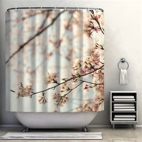Japanese Cherry Blossom Bathroom Decor by Japanese Cherry Blossom Shower Curtain My Home