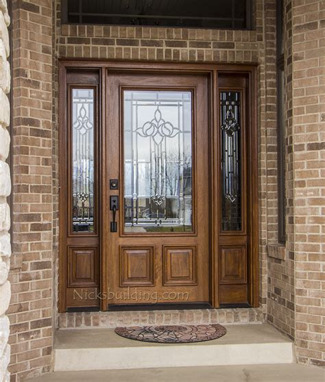 front entry door exterior doors with sidelights solid mahogany entry doors