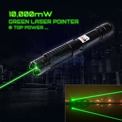 10000mw 532nm green laser pointer range powerful