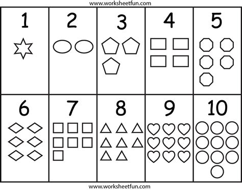 numbers amp shapes worksheet printable worksheets free 575 | d9cbcbdff0d56d2a0f9243623f044248