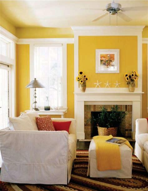 interior design beautiful white yellow modern living room