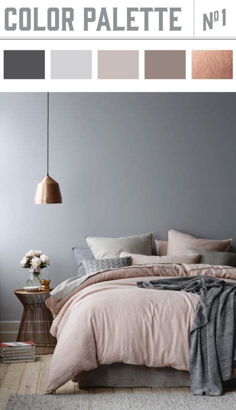bedroom design white walls and floor muted pink bedspread blanket and light gray