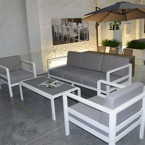 canap de jardin aluminium salon de jardin 5 places en aluminium icon
