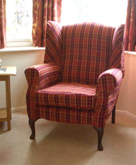 Gray Velvet Back Wing Chair With Arm Rest Combined With