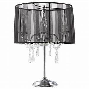 Lampe A Poser Pas Cher : lampe de chevet noire chandelier baroque noir achat ~ Teatrodelosmanantiales.com Idées de Décoration