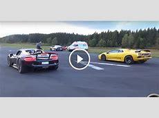 Unlikely Drag Race Lamborghini Diablo VT 60 vs Porsche