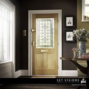 cgi, front, door, entrance, hall, with, moulded, oak, door, , classic, period, architecture, , charcoal, walls