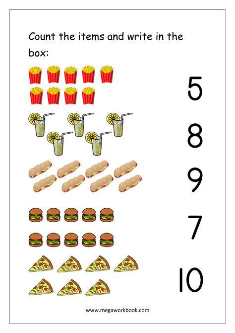 free printable number matching worksheets for kindergarten