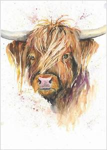 Best 25 highland cow art ideas on pinterest highland for What kind of paint to use on kitchen cabinets for scottish terrier wall art