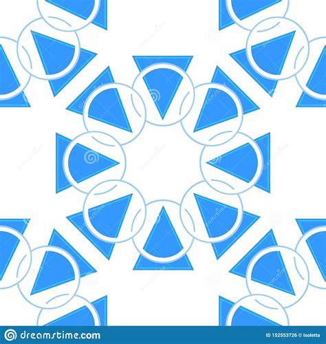 Abstract Geometric Pattern With Circles And Triangle