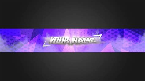 clean simple blue youtube banner template