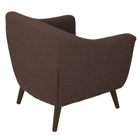 lumisource rockwell tufted accent barrel chair in espresso
