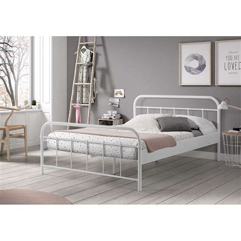 lit metal vipack bed boston wit 140x200 cm