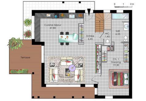 plan maison 1 騁age 3 chambres maison design ossature bois dé du plan de maison design ossature bois faire construire sa maison
