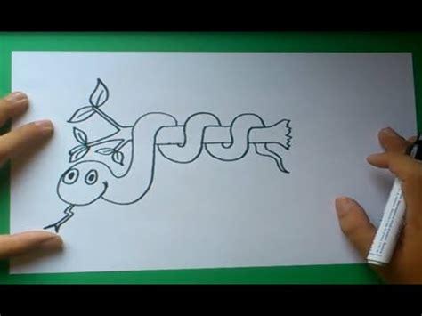 como dibujar una serpiente paso  paso    draw