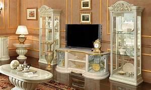 Italienische Möbel Esszimmer : wohnzimmer weisse vitrine stilmoebel ~ Lateststills.com Haus und Dekorationen
