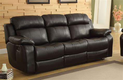 reclining loveseat with console cup holders homelegance marille black reclining sofa with