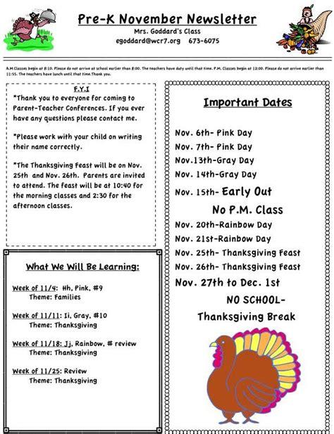 newsletters mrs goddard preschool 589 | Nov.%20newsletter