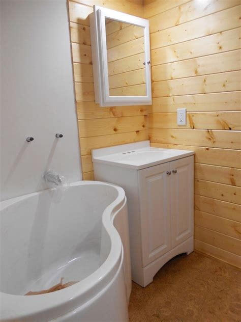 tiny house bathtub studio tiny house by tiny homes