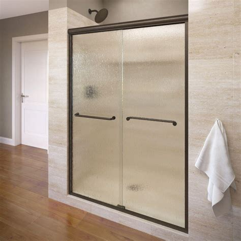 basco shower door basco infinity 58 1 2 in x 70 in semi framed sliding