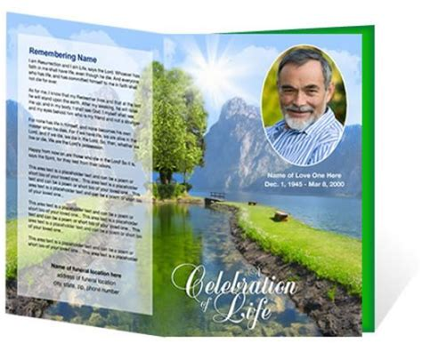 Memorial Brochure Templates Free by Funeral Brochure Template Free Microsoft Sle Funeral