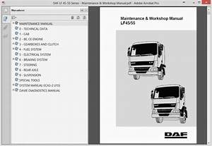 Daf Lf 45-55 Series Maintenance Workshop Manual