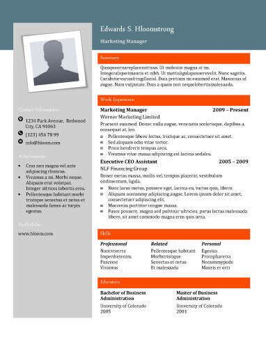 Contemporary Resume by 22 Contemporary Resume Templates Free Hloom