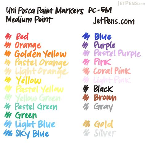 uni posca paint marker pc  white medium point