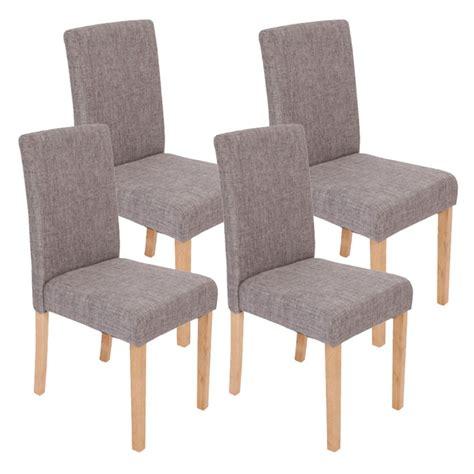 lot chaise salle a manger lot de 4 chaises de salle à manger en tissu gris pieds
