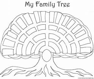 picture of family tree template - parents free colouring pages