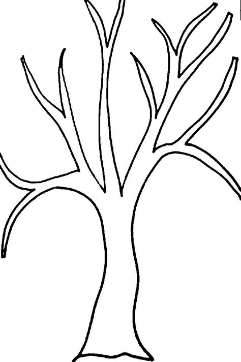 printable tree template tree without leaves coloring printable trees pages print grig3 org