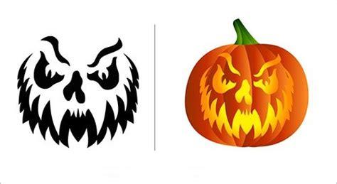 Kürbis Schnitzen Muster, Vorlagen Halloween Kürbis Ideen