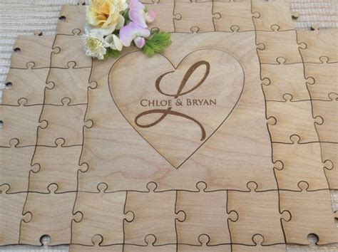 100 Pieces Wedding Guest Book Puzzle And Pen Set Guest
