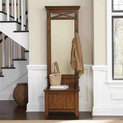 hall tree storage bench  mirror home furniture design