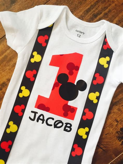 Free shipping on orders over $25 shipped by amazon. Mickey Mouse Onesie First Birthday Onesie Mickey Mouse ...