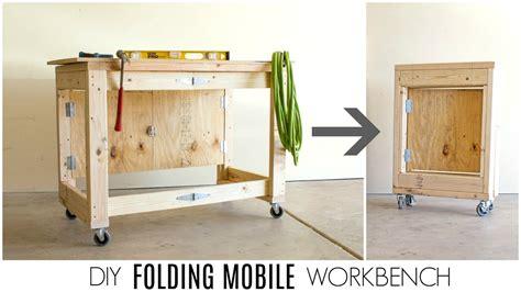 diy folding mobile workbench youtube