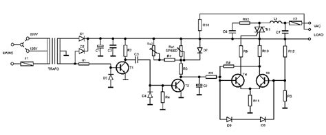 Ac Motor Schematic by Universal Ac Motor Speed Controller Kit