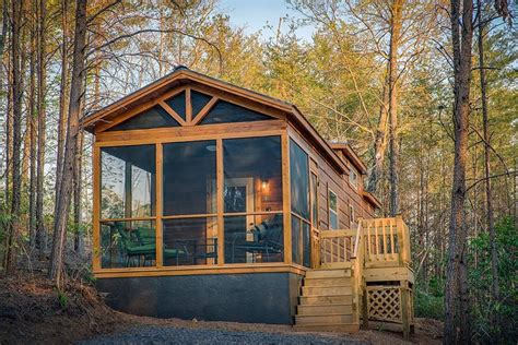 green river log cabins builds custom park models   weeks tiny house blog