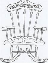 Chair Rocking Drawing sketch template