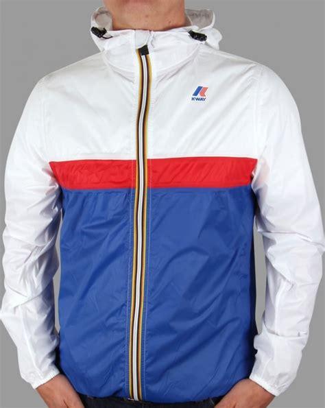 K-way Claude 3.0 Colour Block Jacket White/Blue ...