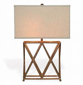 crossings contemporary french gold open x frame table lamp With x frame lamp table