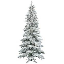 vickerman flocked utica fir 10 39 white artificial tree with 540 led white lights with