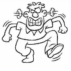Angry Man Face Coloring Coloring Pages